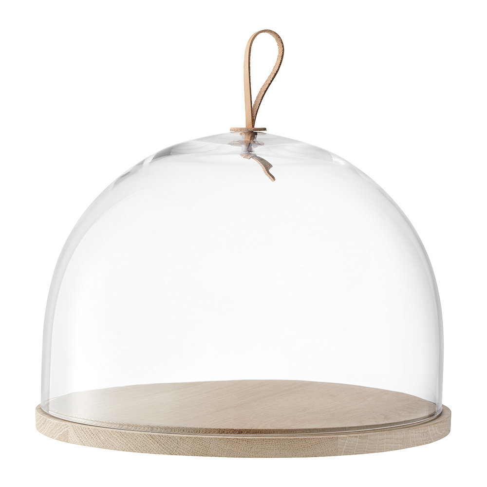 LSA International - Ivalo Cake/Cheese Dome & Ash Base - 32cm Dia.