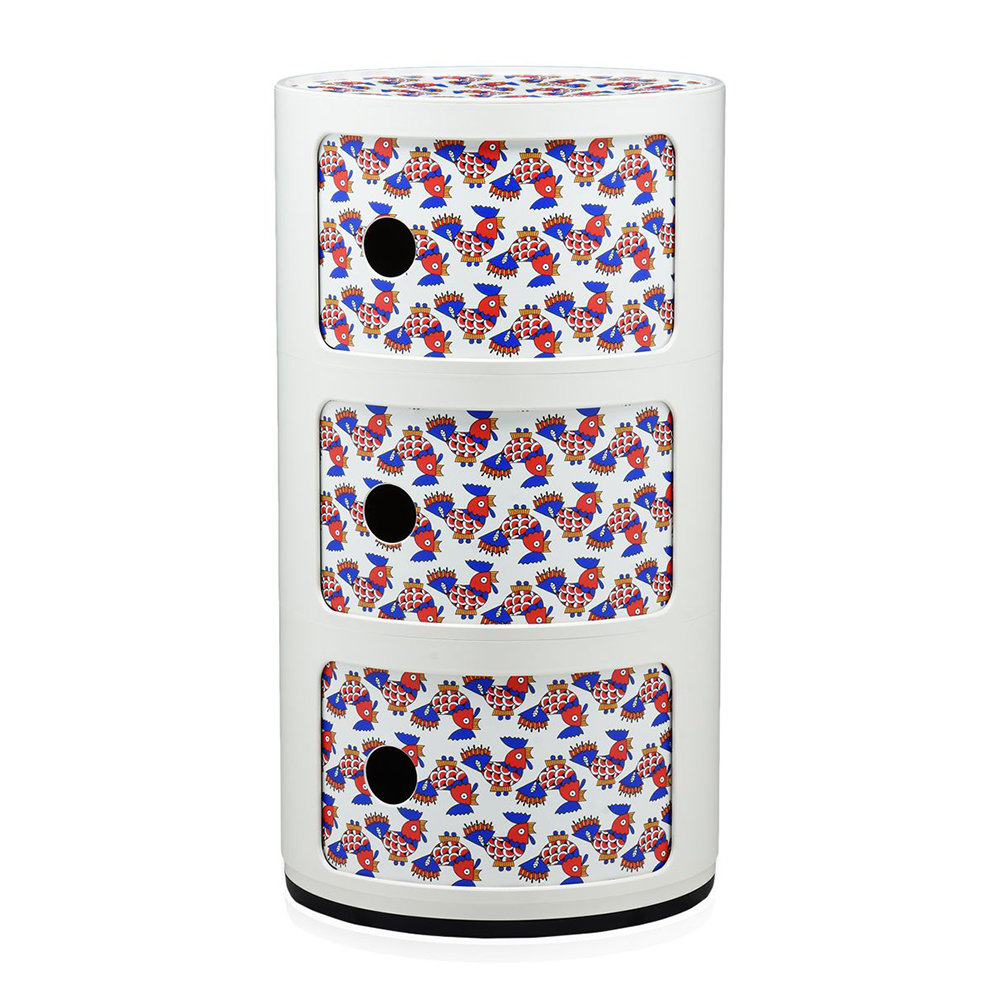 Kartell - La Double J Componibili Storage Unit - White-Galletti