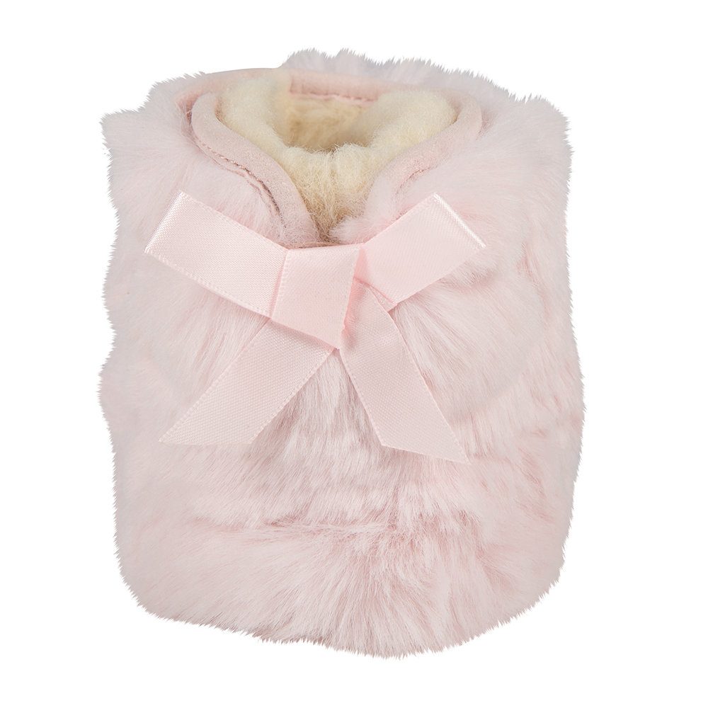 fce2a32ead3 Jesse Bow II Fluffy Infant Boots - Baby Pink