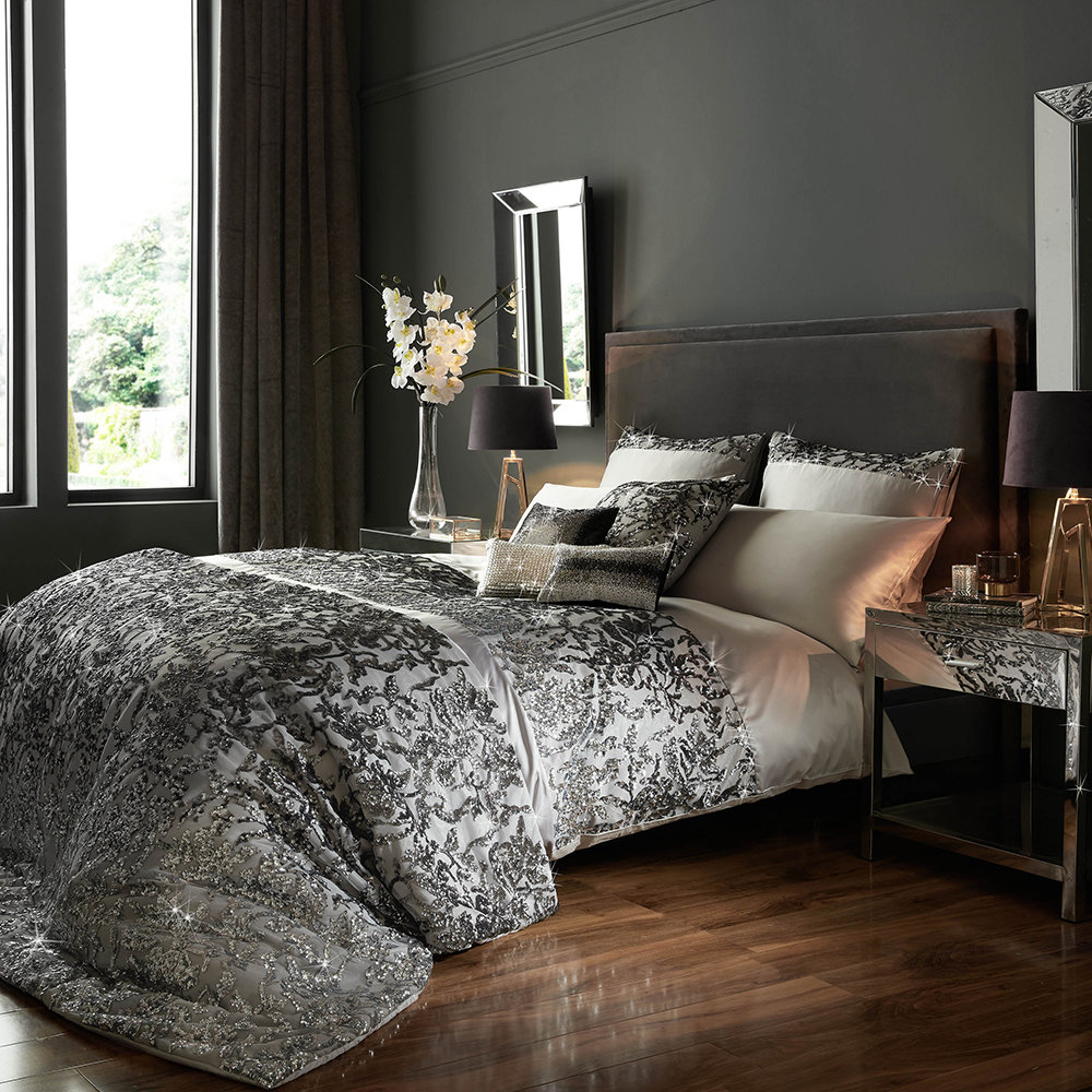 Kylie Minogue at Home - Angelina Duvet Cover - Truffle - Super King