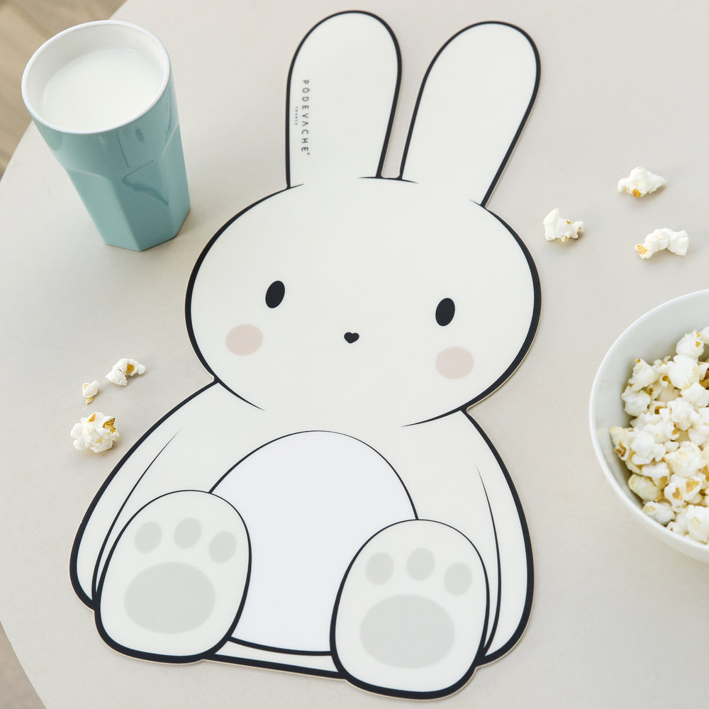 PODEVACHE - Set de Table en Vinyle Lapin