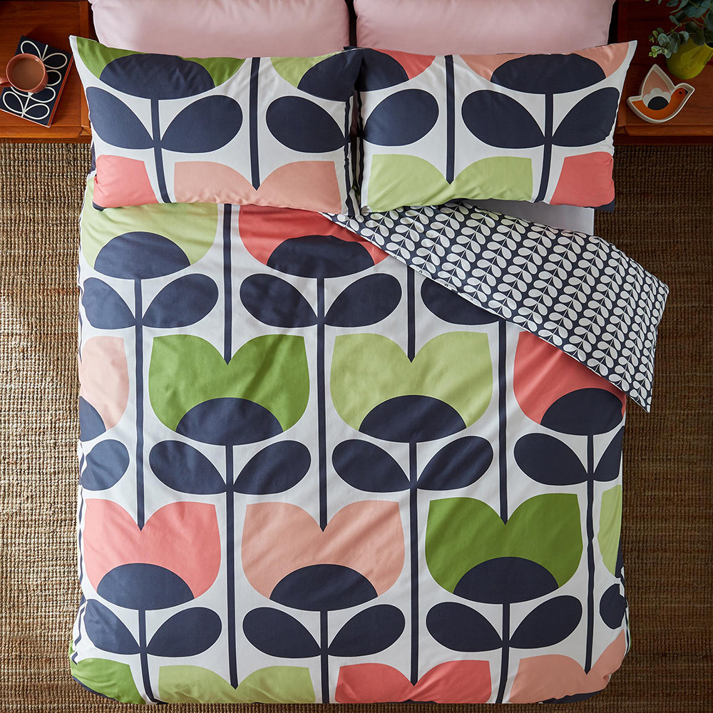 Orla Kiely - Climbing Rose Quilt Cover - Pale Rose - Single