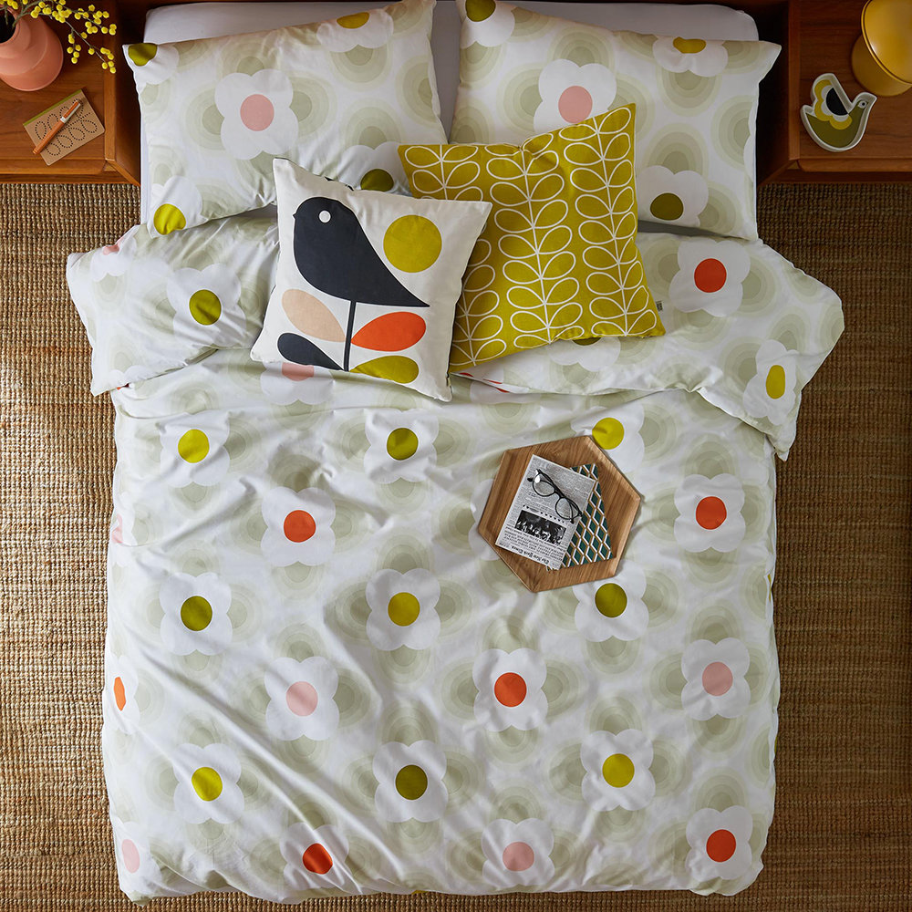 Orla Kiely - Striped Petal Quilt Cover - Multi Spot - King