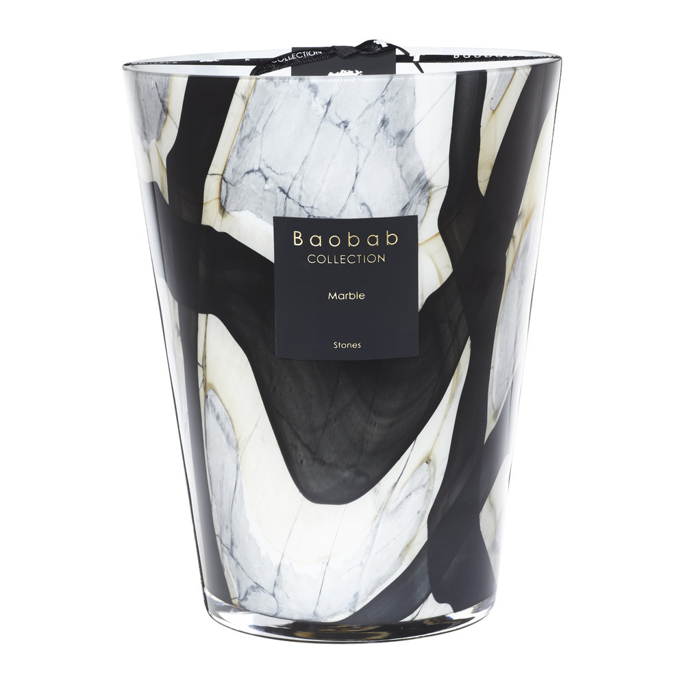 Baobab Collection - Stones Marble Scented Candle - 24cm