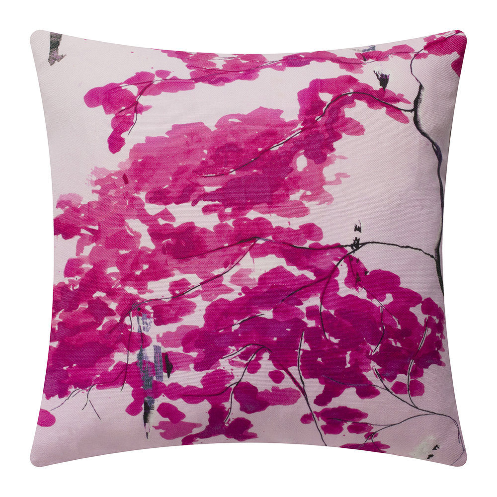 Anna Jacobs - Chinese Tree Cushion - 45x45cm - Pink/Violet