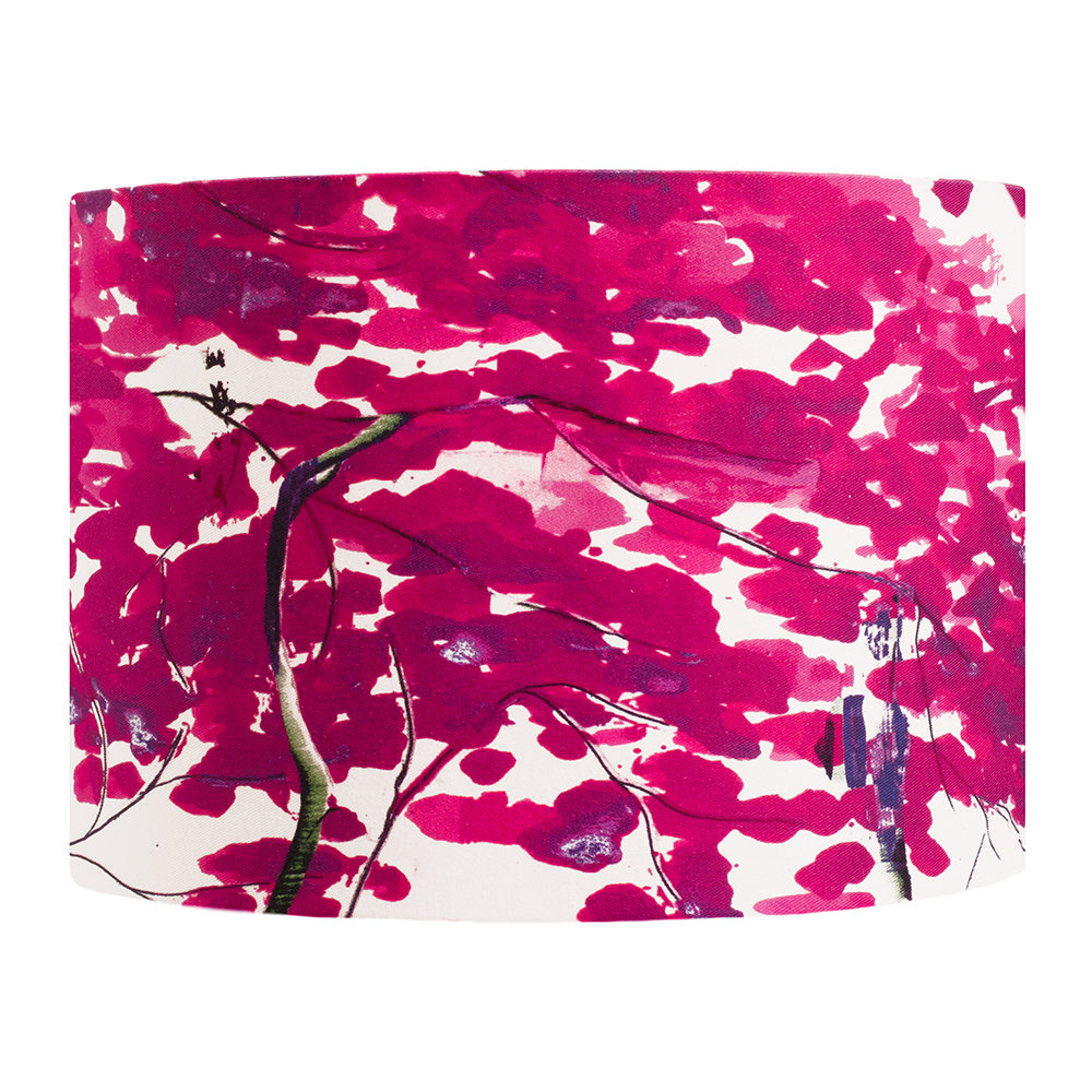 Anna Jacobs - Chinese Tree Lamp Shade - Pink/Violet - Medium