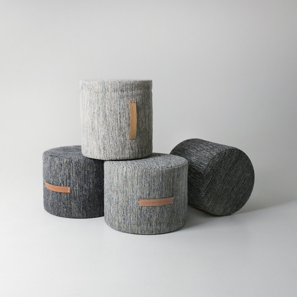 Design House Stockholm - Bjork Pouf - Dark - High