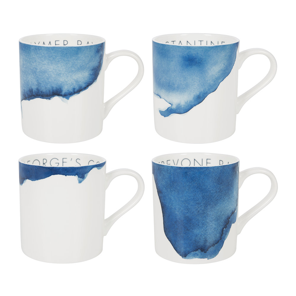 Rick Stein - Coves of Cornwall Mug - Set of 4 - Daymer Bay