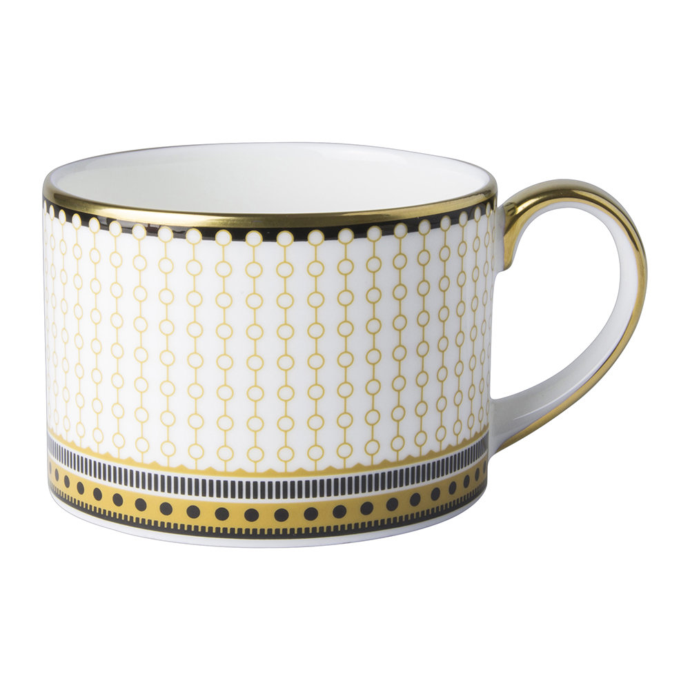 Royal Crown Derby - Oscillate Teacup - Ochre