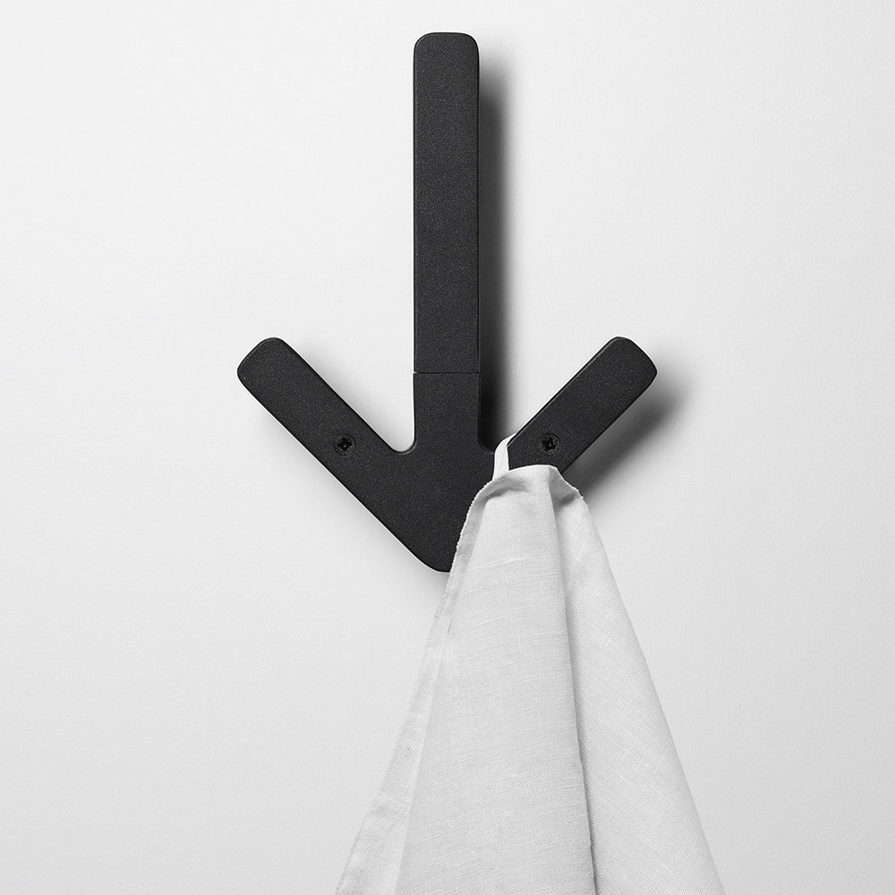 Design House Stockholm - Arrow Haken - Schwarz