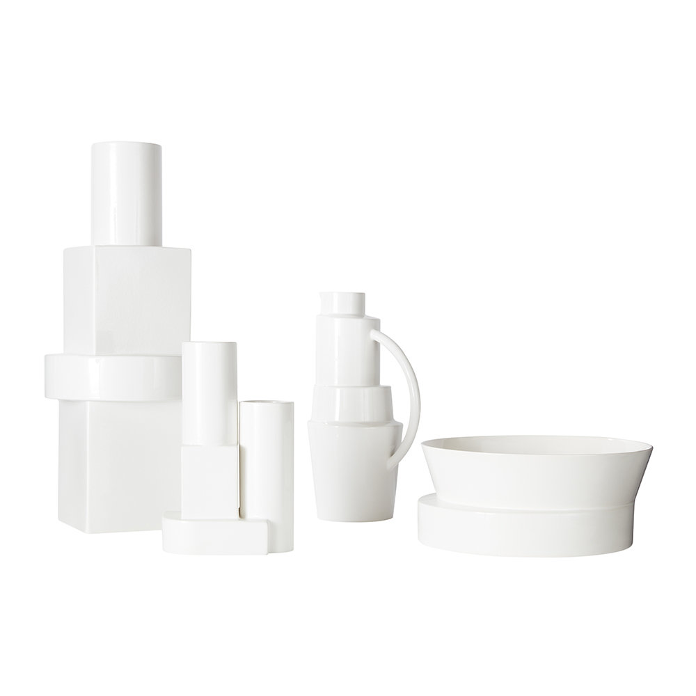 Tom Dixon - Block Vessel - White Gloss