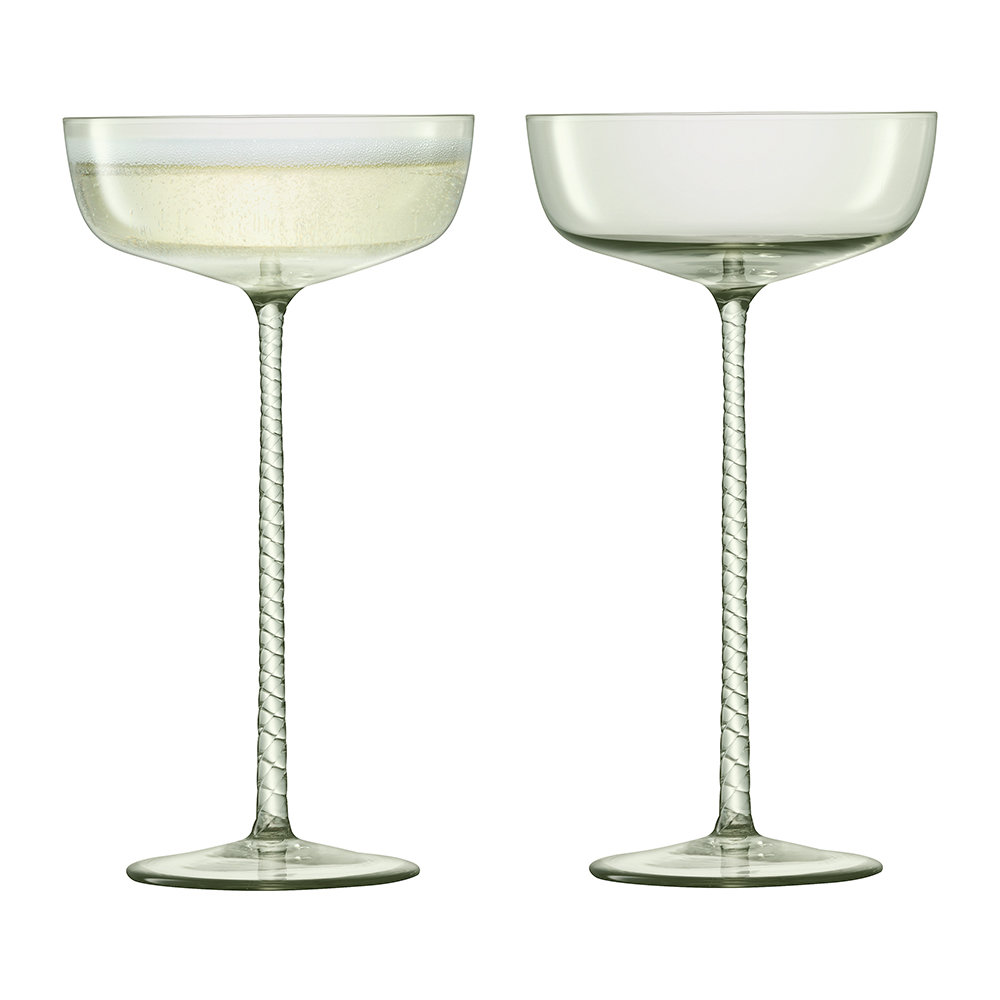 LSA International - Champagne Theater Saucer - Set of 2 - Smoke Gray