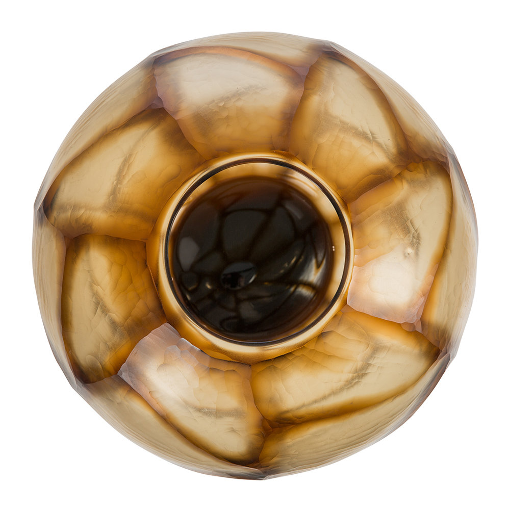 A by Amara - Bickton Glass Vase - Amber
