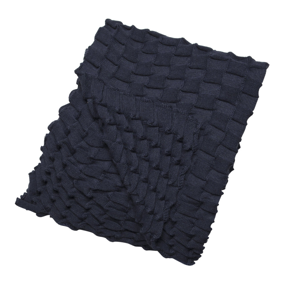 Design House Stockholm - Curly Throw - 170x80cm - Navy