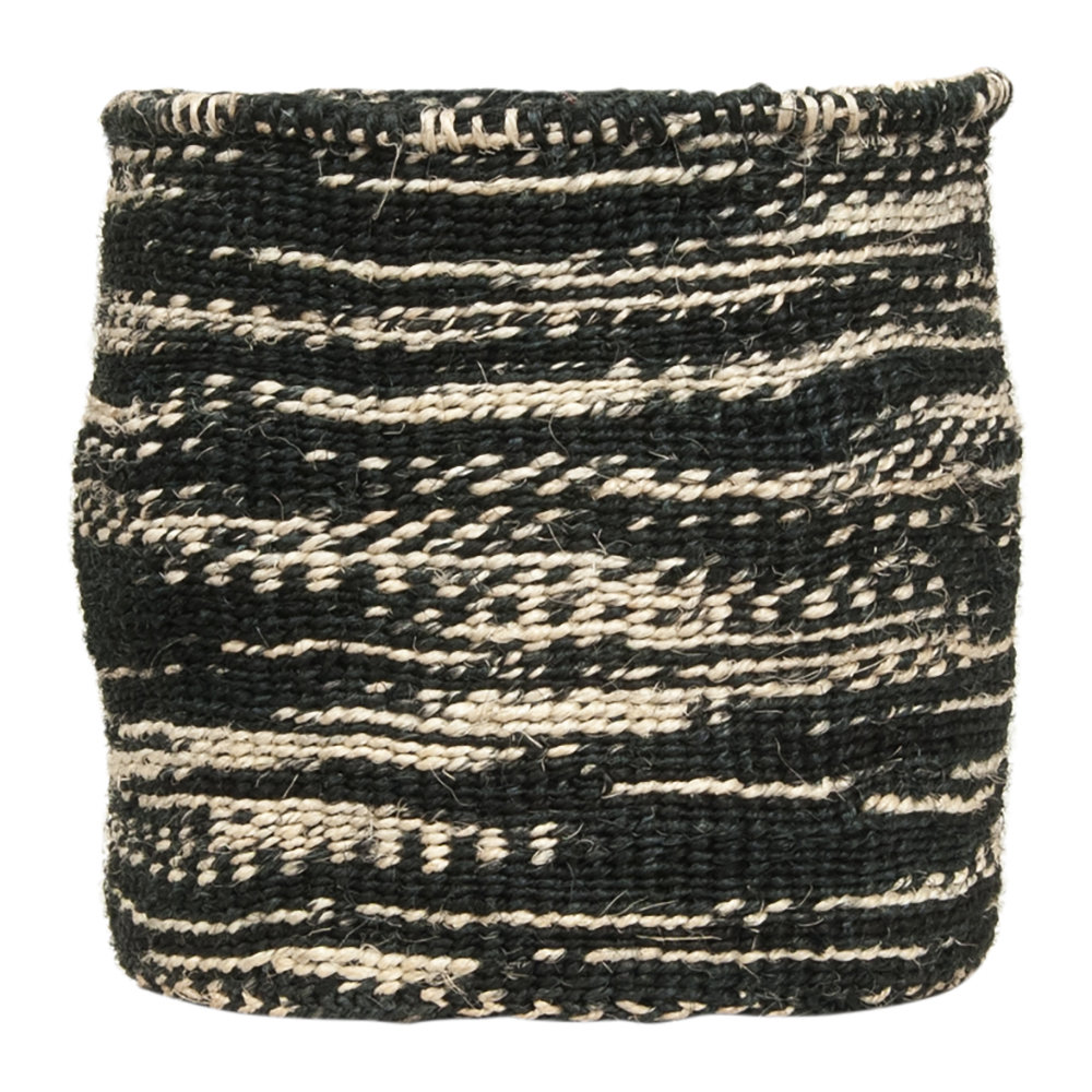 The Basket Room - Cloud Mkaa Hand Woven Basket - Black - M