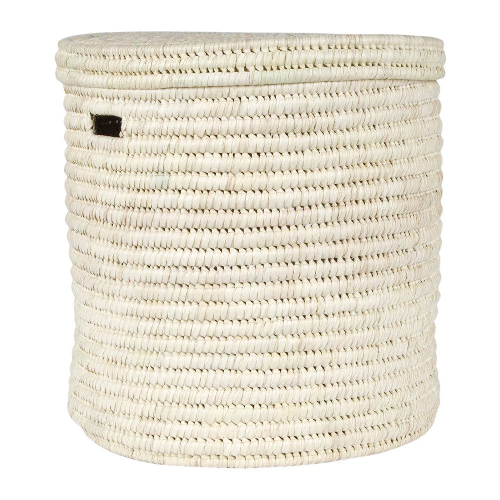 The Basket Room - Pale Hand Woven Laundry/Storage Basket - Natural - L