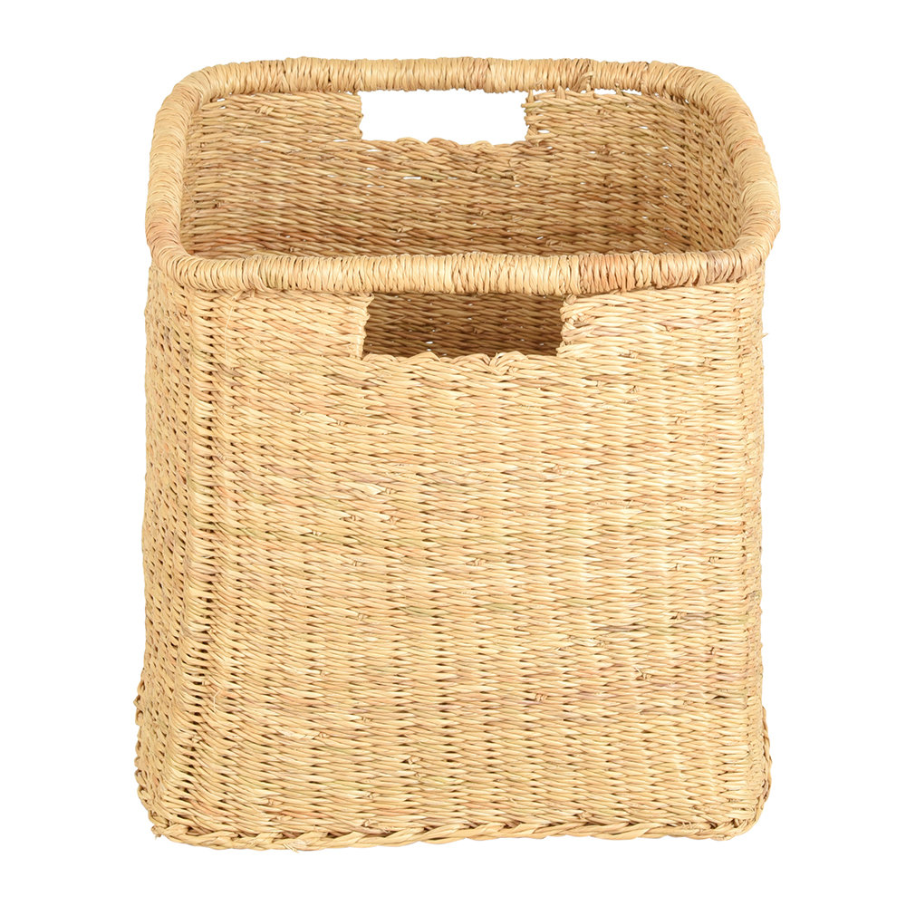 The Basket Room - Mraba Square Hand Woven Storage Basket - Natural - S