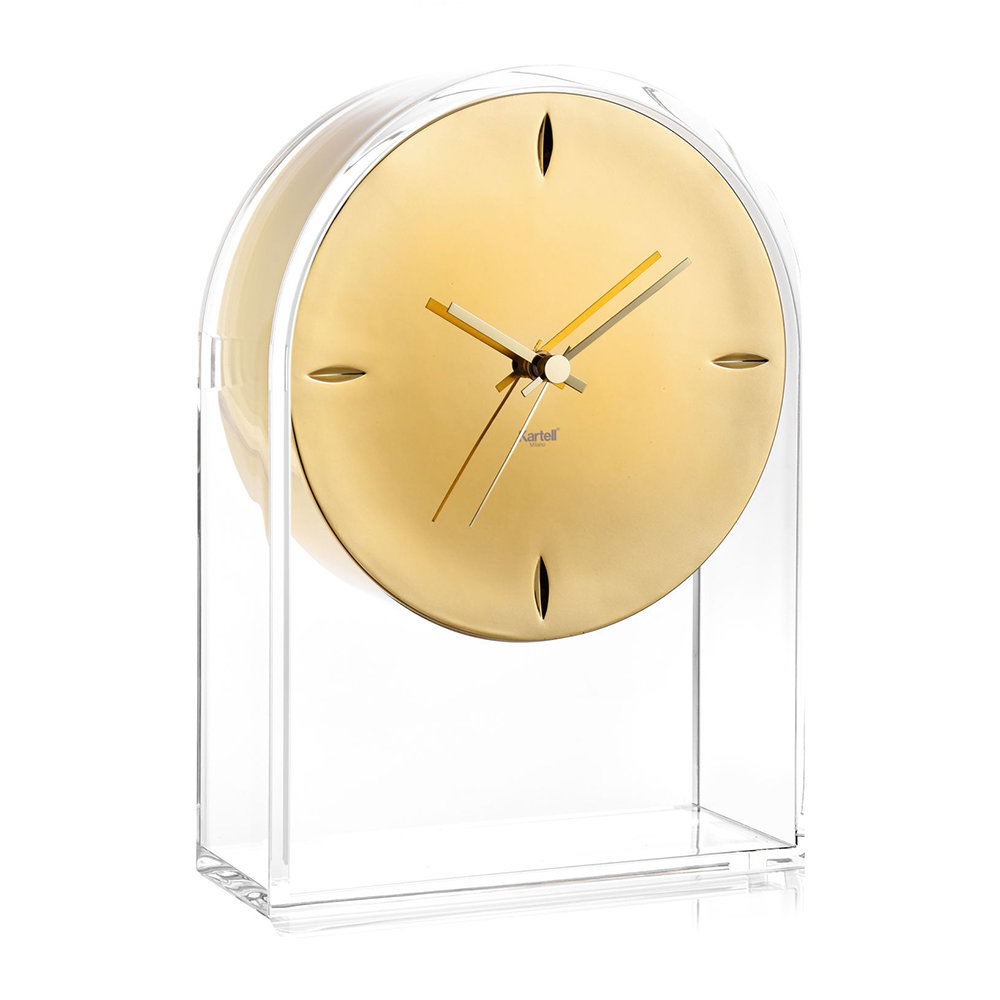 Kartell - Horloge Air Du Temps - Cristal/Or