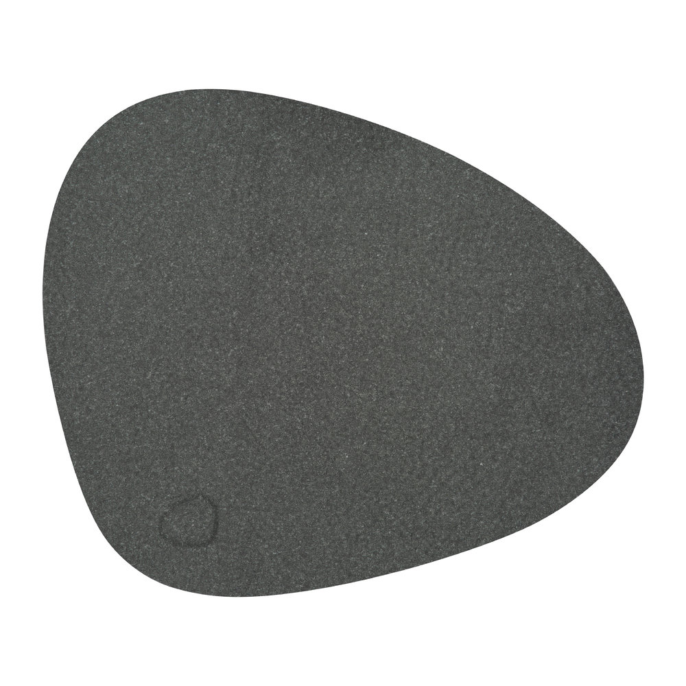 LIND DNA - Hippo Curve Table Mat - Black Anthracite - Small
