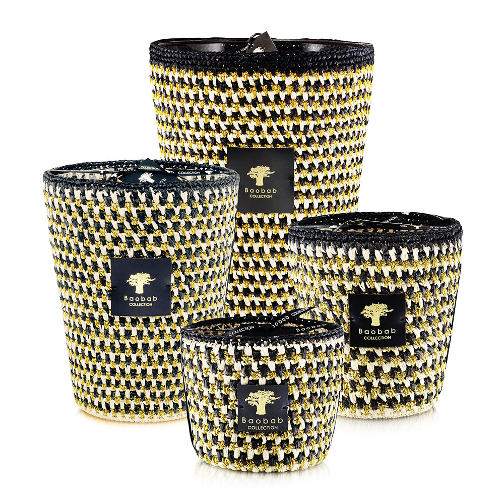 Baobab Collection - Raffia Scented Candle - Limited Edition - Manja - 16cm