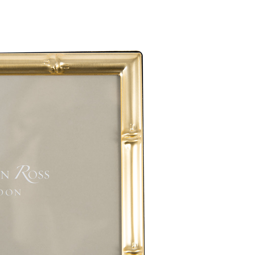Addison Ross - Bamboo Photo Frame - Gold - 4x6""