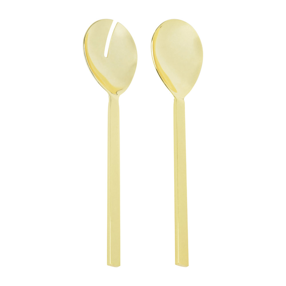 Bloomingville - Stainless Steel Salad Server Set - Gold