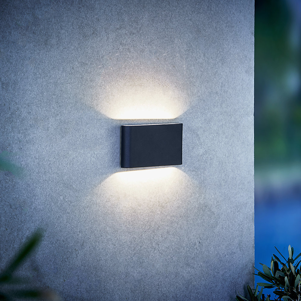 A by Amara - Kinver Outdoor Wall Light - Black