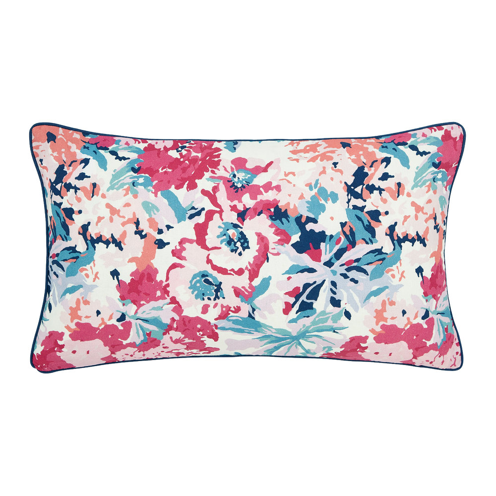 Joules - Cottage Garden Border Stripe Cushion - Multi - 50x30cm