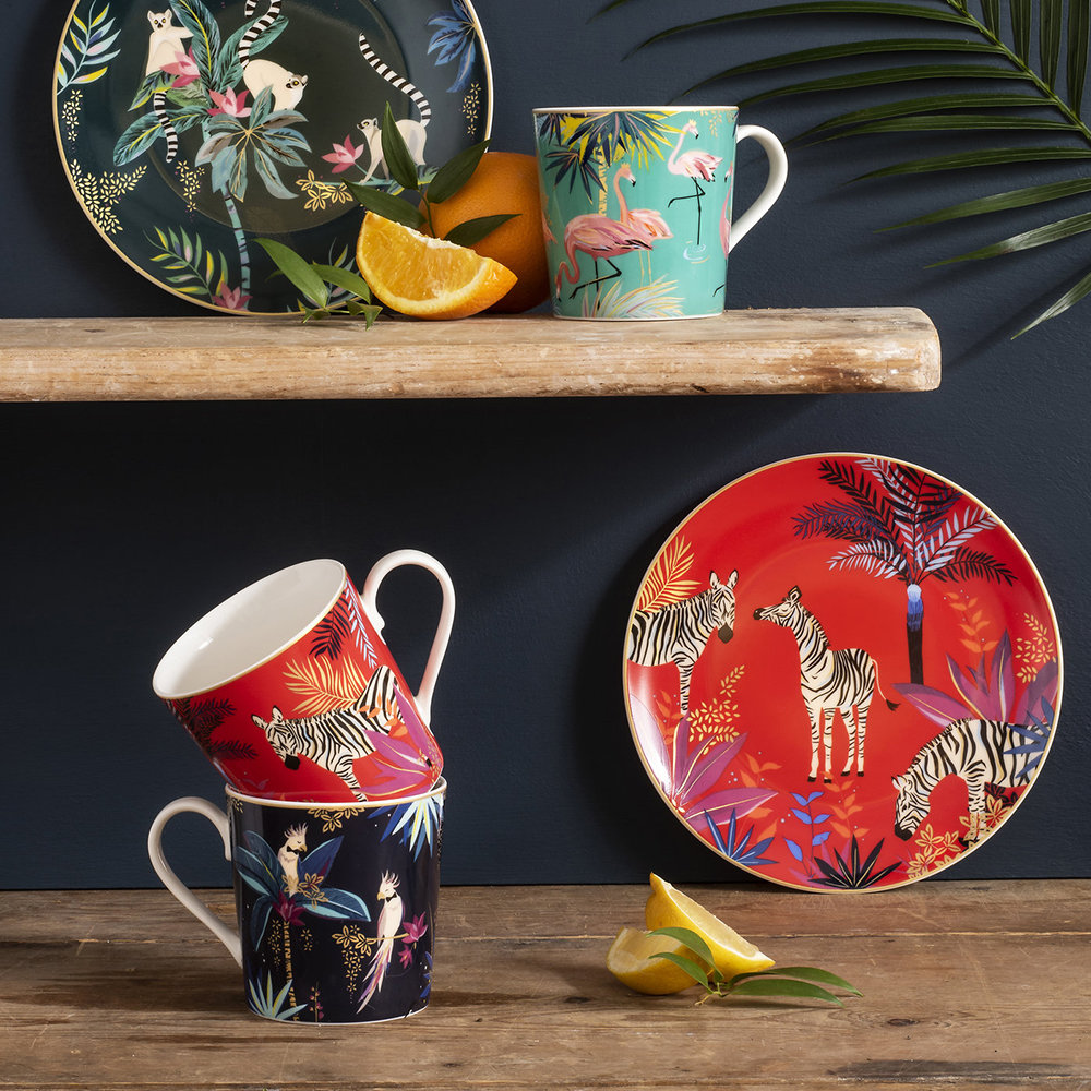 Sara Miller - Tahiti Collection Mug - Flamingo