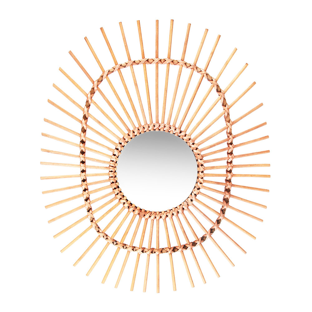 &Klevering - Oval Bamboo Mirror