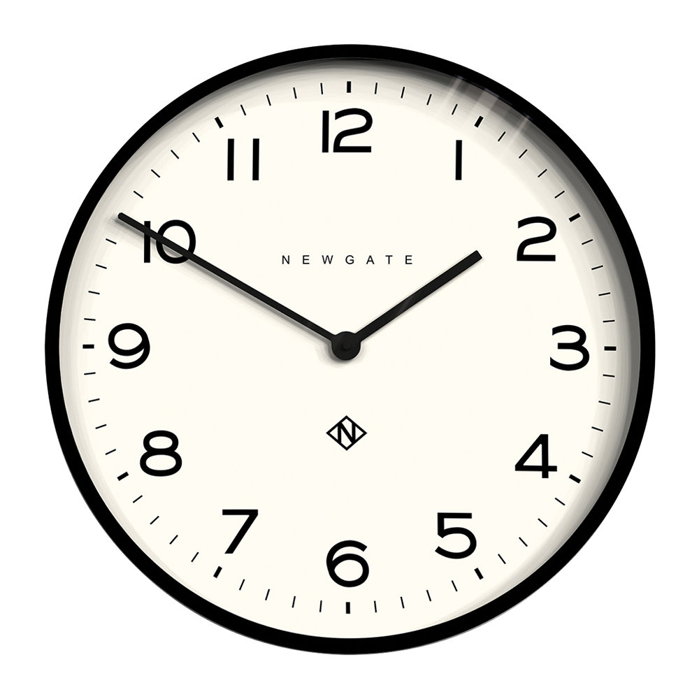 Newgate Clocks - Number One Echo Wall Clock - Black