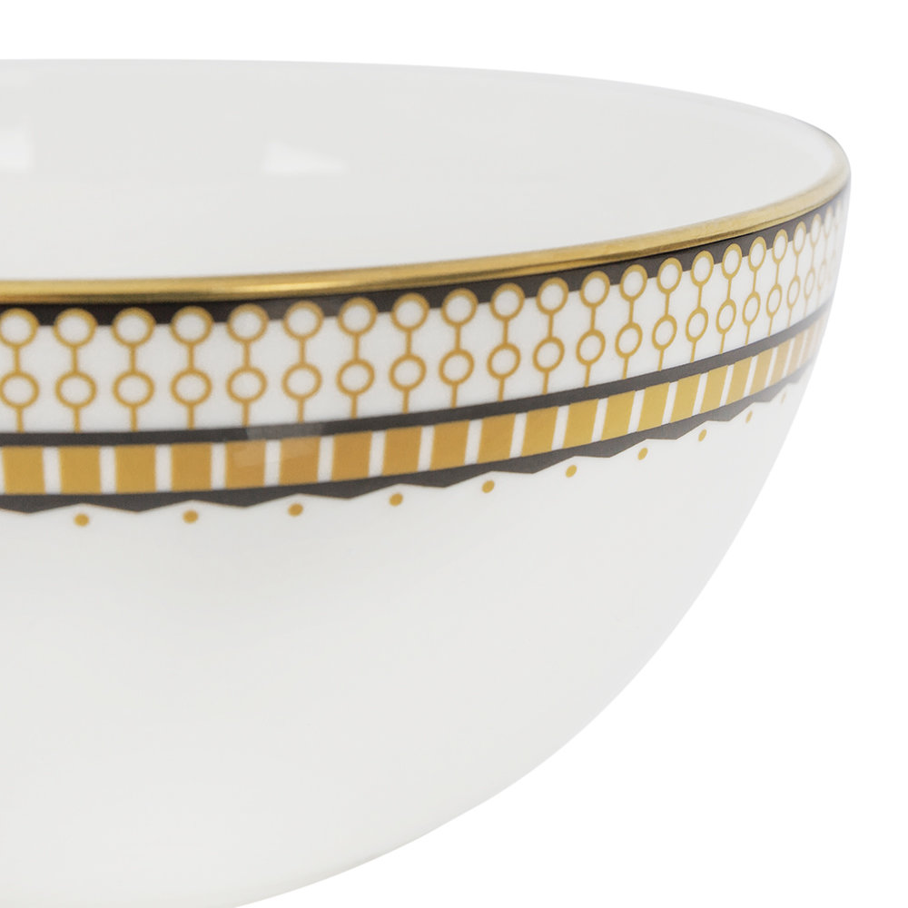Royal Crown Derby - Oscillate Cereal Bowl - Ochre