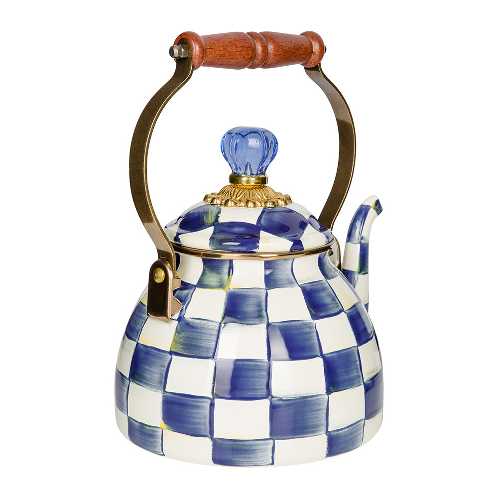 MacKenzie-Childs - Royal Check Tea Kettle - Small