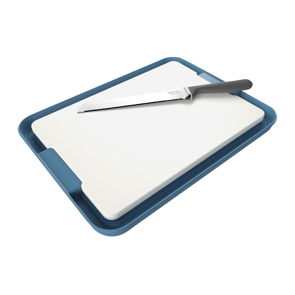 Venn - Chopping Board & Tray Set - Blue