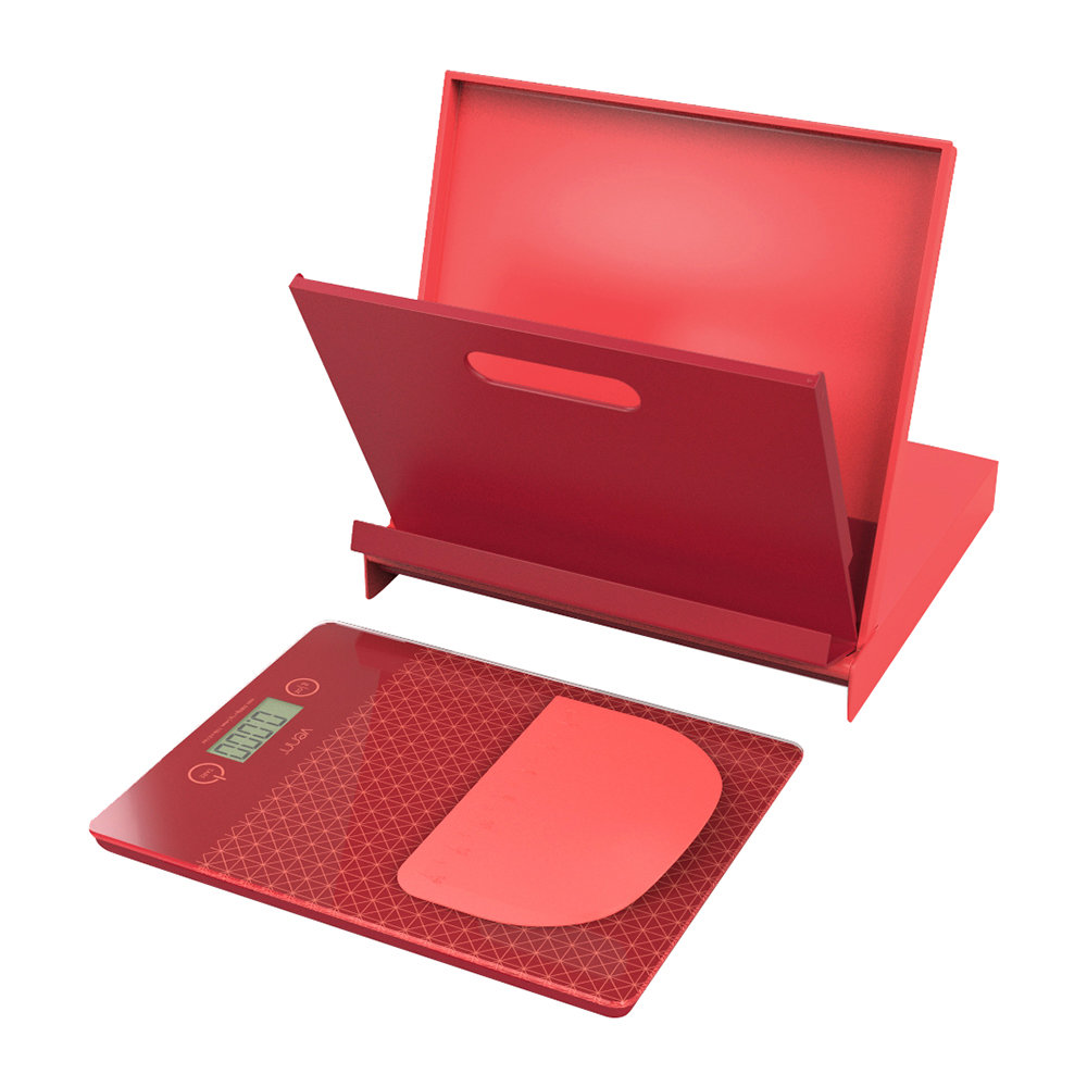 Venn - Cookbook Stand  Scales Set - Red