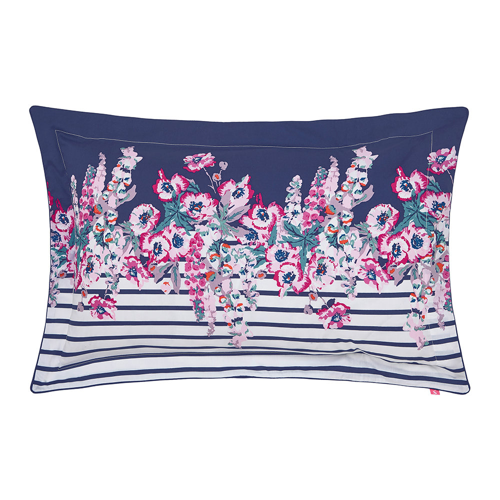 Joules - Cottage Garden Border Stripe Oxford Pillowcase - Comet