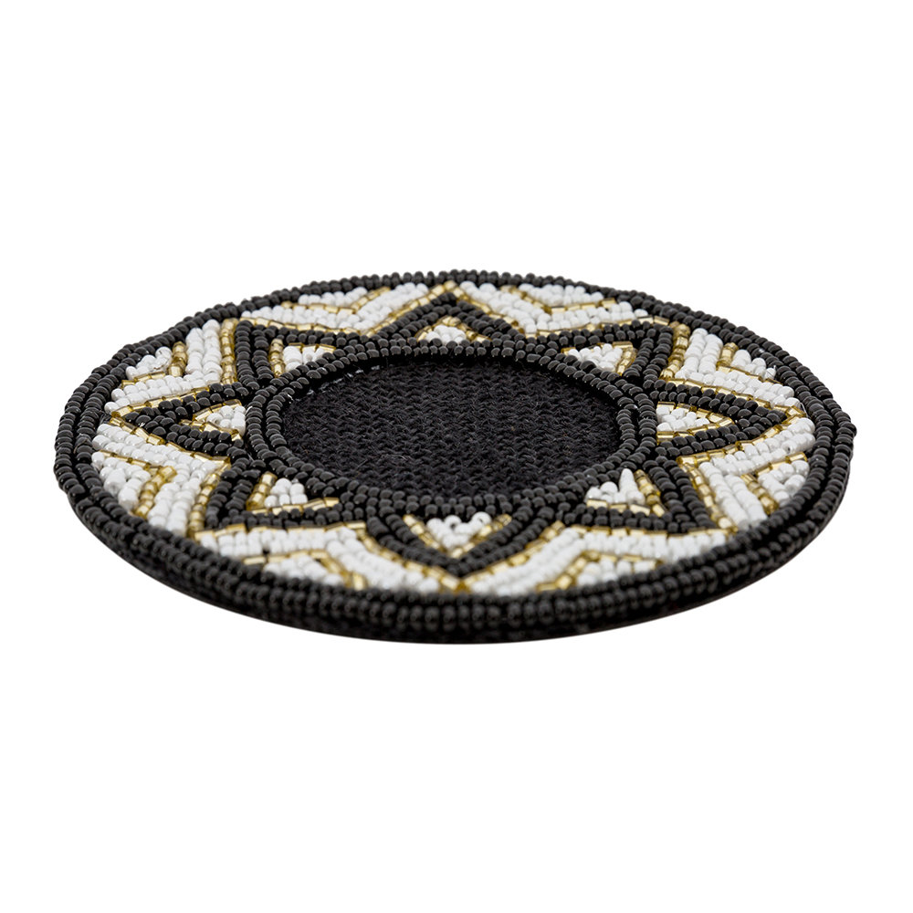 A by AMARA - Addison Beaded Coasters - Set of 4