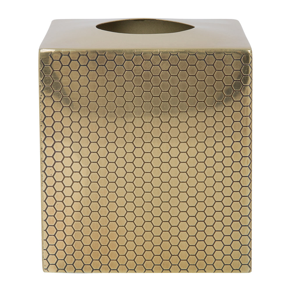 A by Amara - Antique Gold Honeycomb Tissue Box