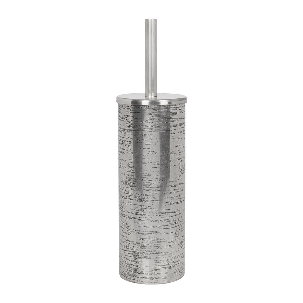 A by Amara - Antique Silver Textured Toilet Brush