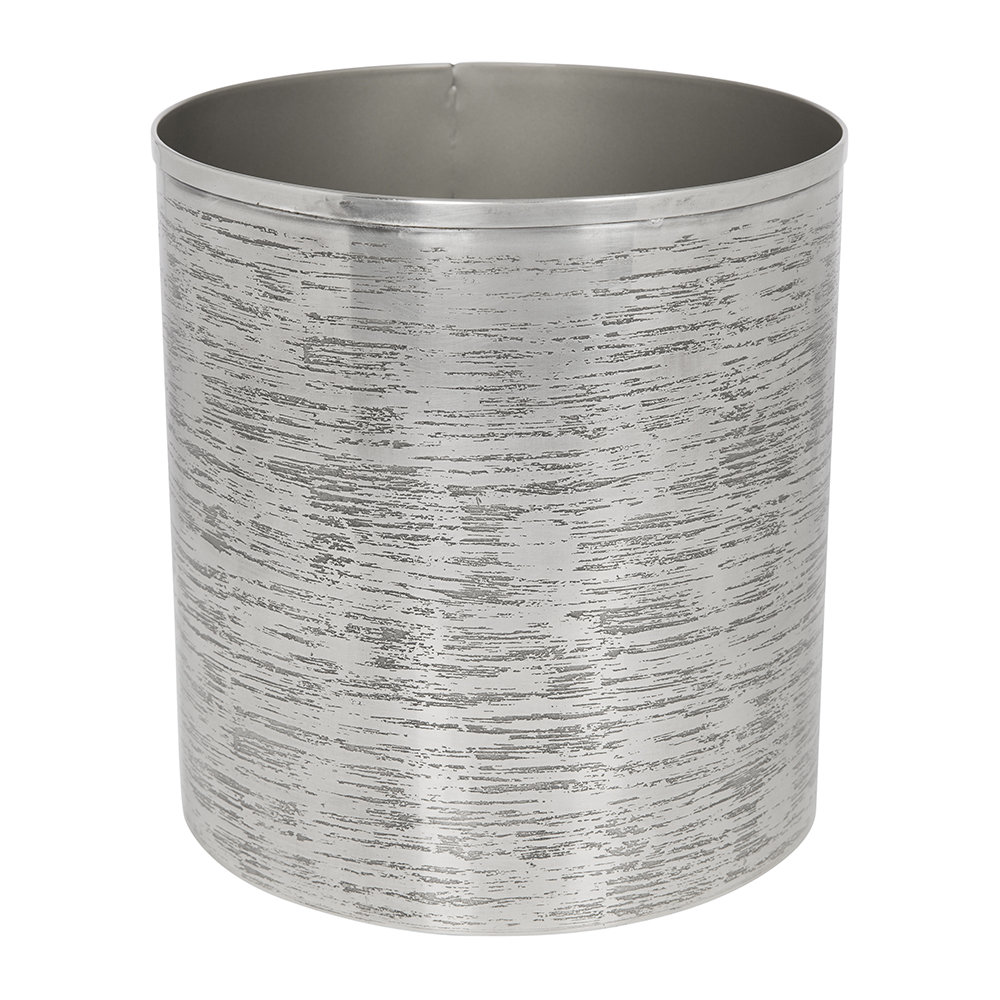 Image of A by AMARA - Antique Silver Textured Waste Bin