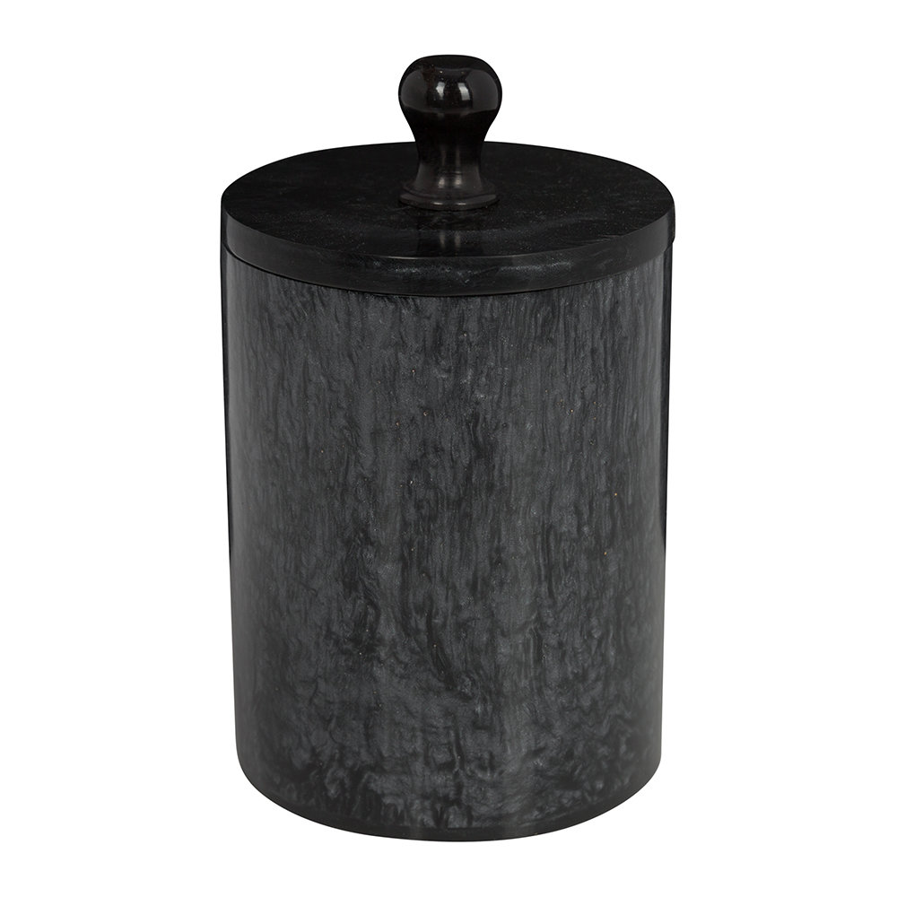 Image of A by AMARAarbled Resin Storage Pot - Black