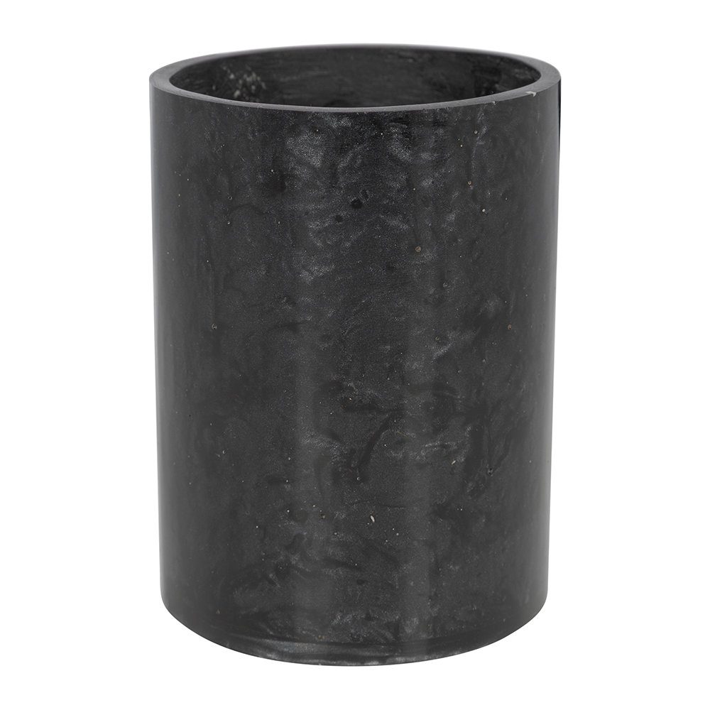 Image of A by AMARAarbled Resin Toothbrush Holder - Black
