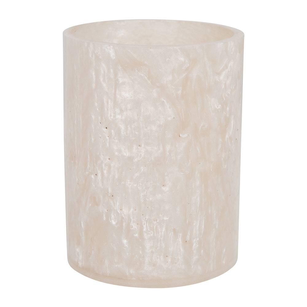 Image of A by AMARAarbled Resin Toothbrush Holder - Ivory