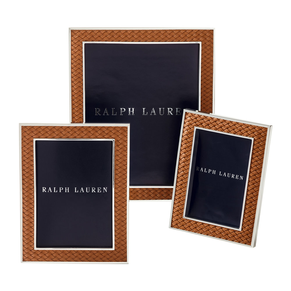 Ralph Lauren Home - Brockton Photo Frame - Saddle - 5x7""