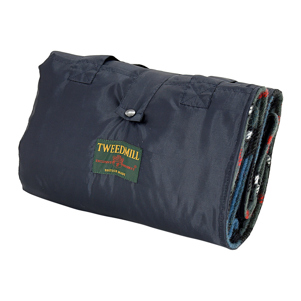 Tweedmill - Eventer Pure New Wool Picnic Blanket - Ferguson/Navy