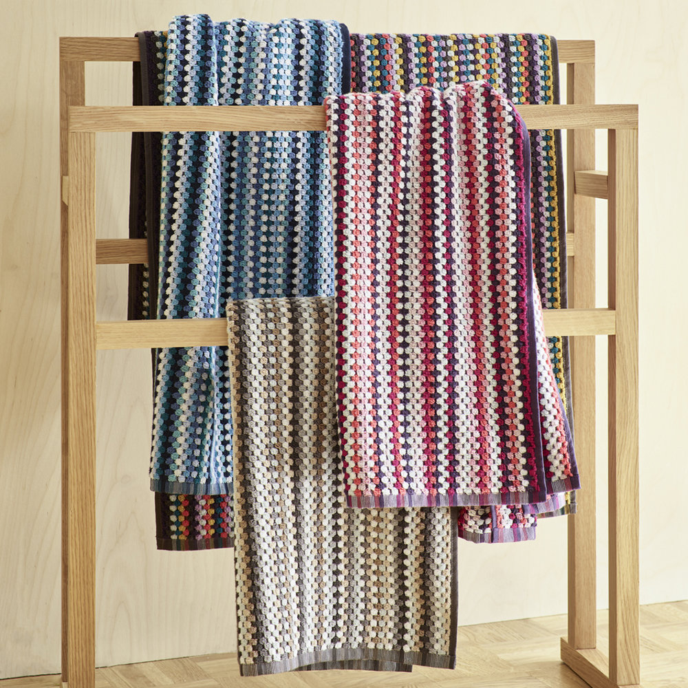 Christy - Carnaby Stripe Towel - Berry - Bath