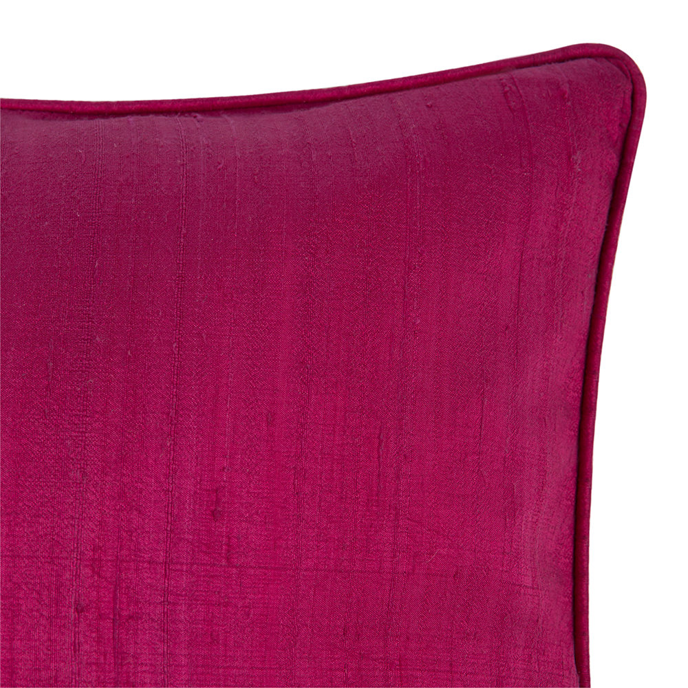 A by AMARA - Silk Pillow - Magenta - 45x45cm