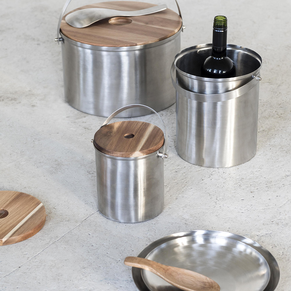Serax - Brushed Steel Ice Bucket - Small