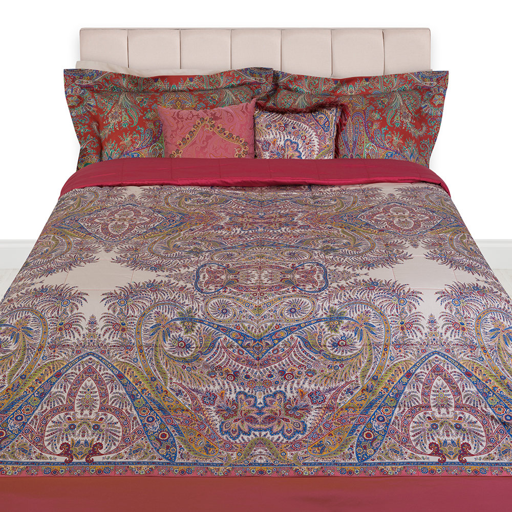Etro - Colombara Quilted Bedspread - 270x270cm - Red