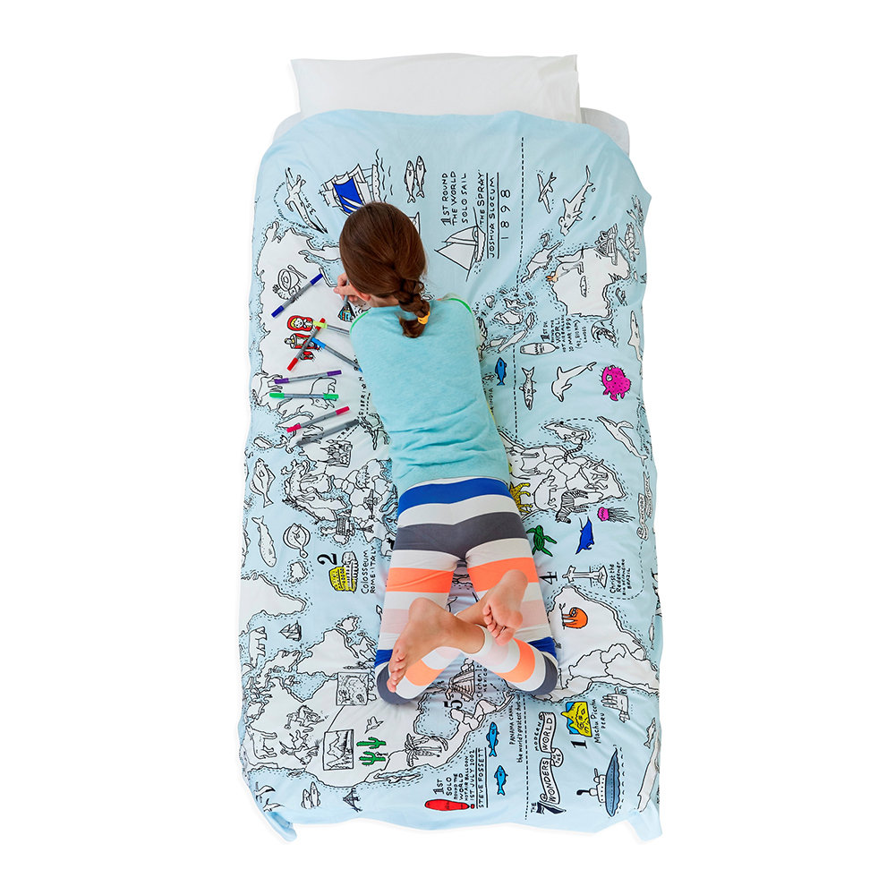 World Map Duvet Cover - Single